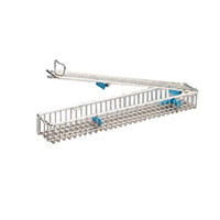 Endoscope basket single 460/80/52 L-wire holder for accessories and connections s/s epol, with lid