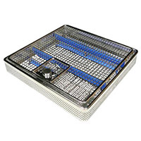 ENT-cleaning basket 480/250/40 Stainless Steel, with fine mesh basket and removable cover